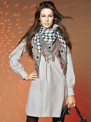 Arafatka uslubida sharf o'rash